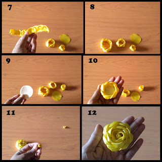 Tutorial Membuat Mawar dari Kain Satin part 2