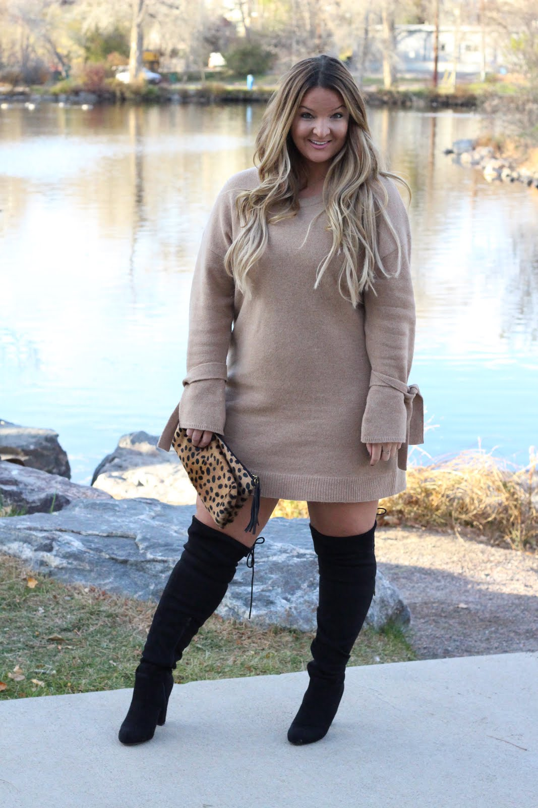 Five Festive Dresses for the Holidays  by Colorado fashion blogger Delayna Denaye