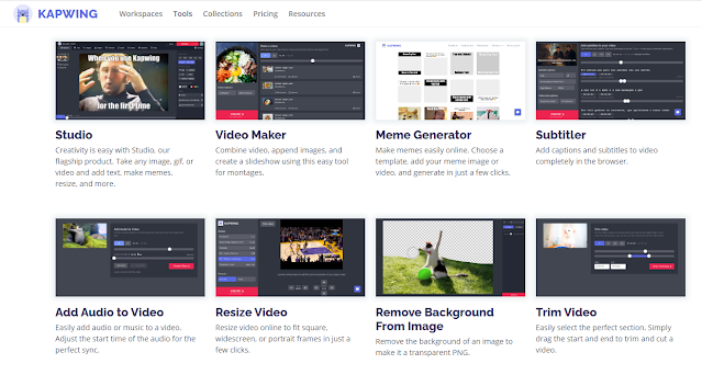 Kapwing is a collaborative platform for creating images, videos, and GIFs