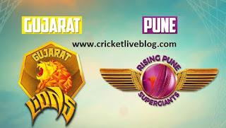 gujarat vs pune live cricket score ipl t20 2016
