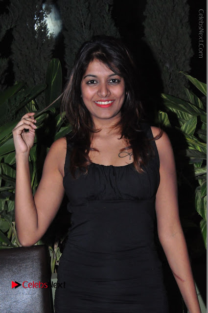 Actress Kavya Kumar Stills in Black Short Dress at F Club pre soft Launch  0002.JPG