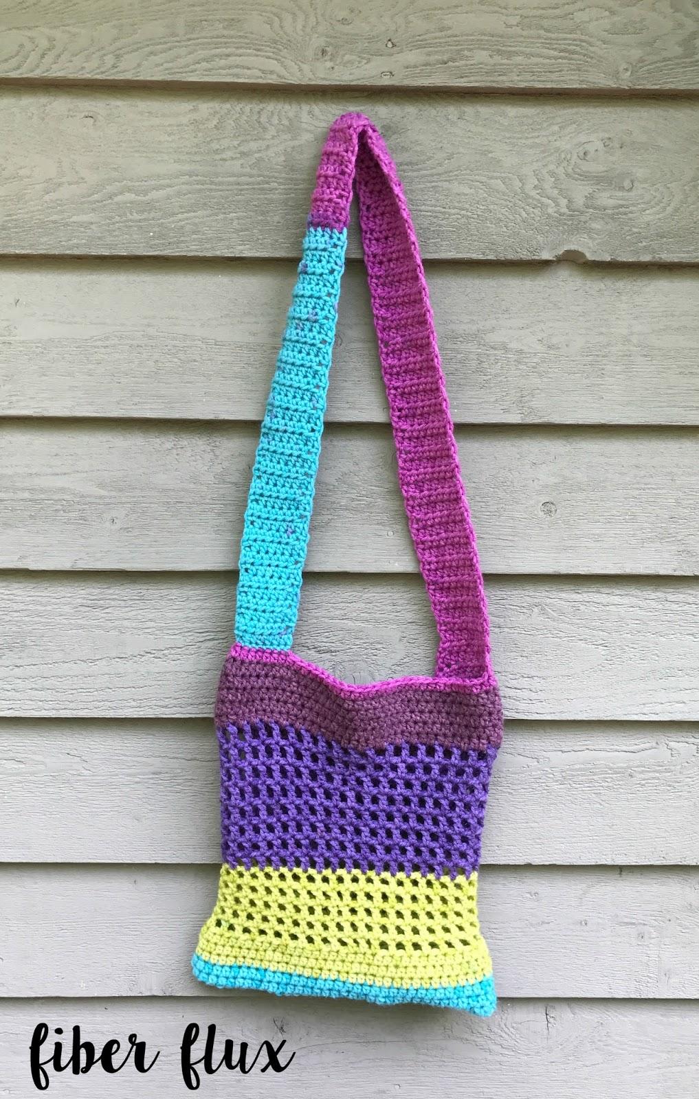 Fiber Flux: Free Crochet Pattern...Color Pop Tote!