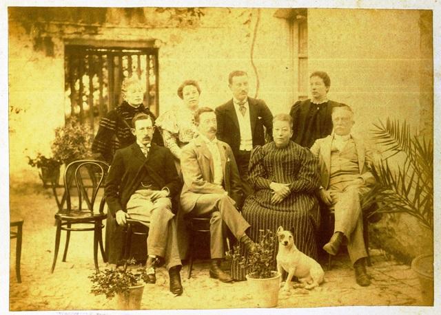 Familia de Acuña y Robles, (fotografía cedida por María José de Acuña Garrido)
