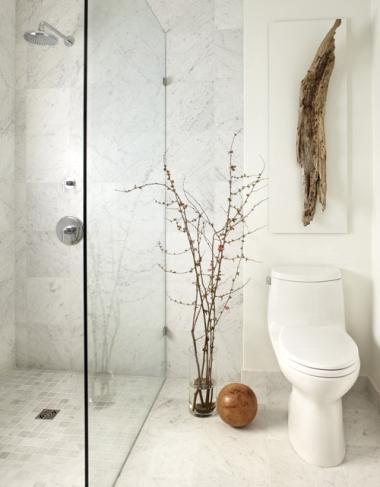 spa like bathroom with driftwood