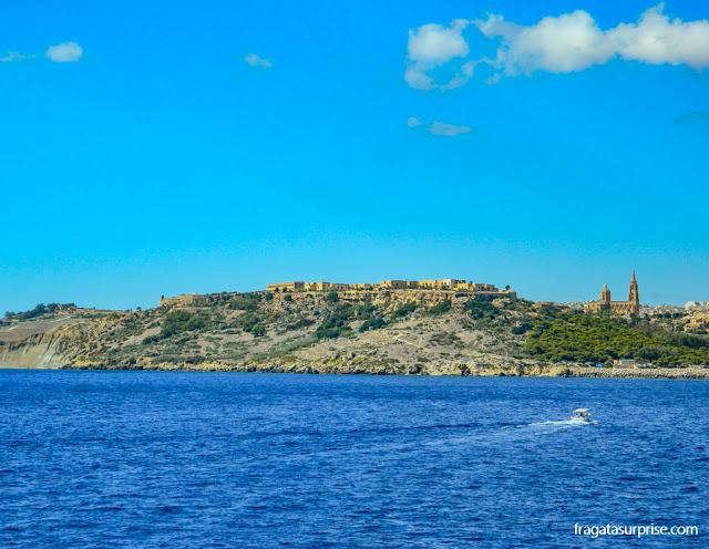 Cittadella de Malta, na Ilha de Gozo