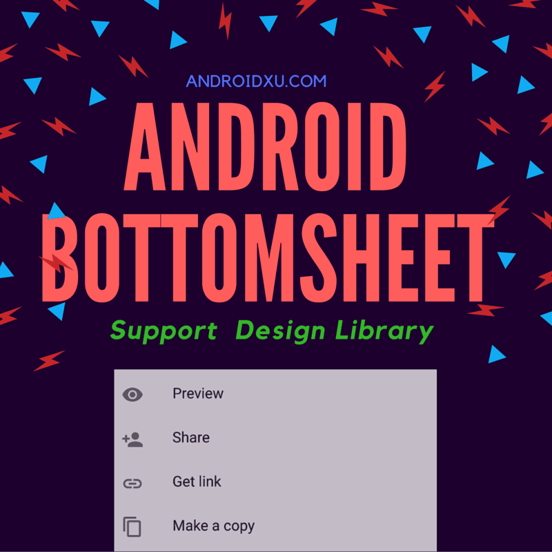 Working with Android Support library Bottom Sheet [Modal