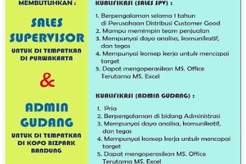 Lowongan Kerja Bandung Karyawan PT. Jaya Bakti Raharja