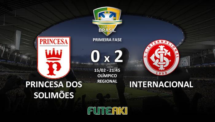 Veja o resumo da partida com os gols e os melhores momentos de Princesa dos Solimões 0x2 Internacional pela Primeira Fase da Copa do Brasil 2017.