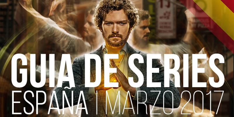 Estrenos de series en España en marzo de 2017
