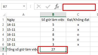 Cách ẩn công thức trong bảng tính Excel,
