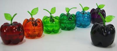reciclar reciclando reciclagem diy faça voce mesmo garrafa pet embalagem artesanato reutilizavel reutilizando sustentabilidade porta treco maça lembrancinha decoração