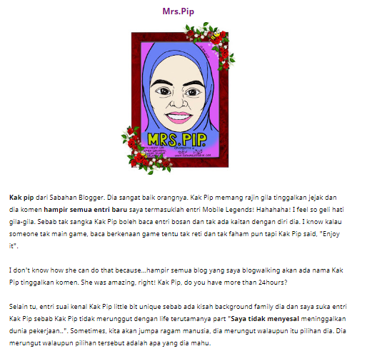 Menang Segmen Suai Kenal Bloggers Seluruh Malaysia