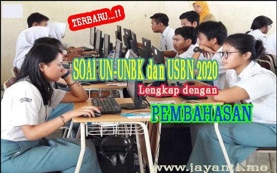 Soal dan Pembahasan UN-UNBK-USBN-SBMPTN Bahasa Indonesia Terbaru