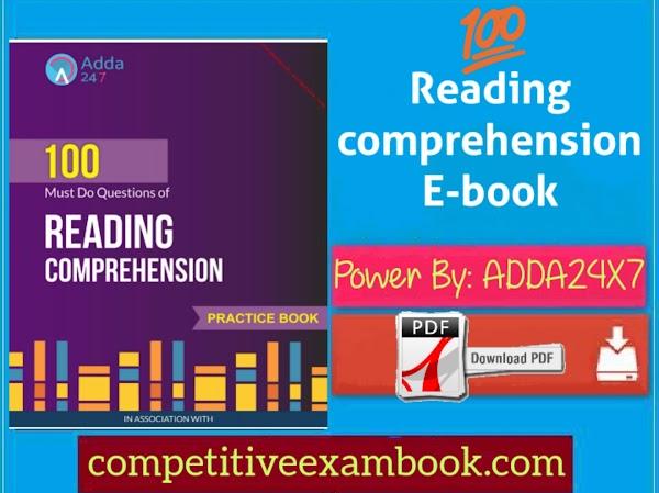 ADDA24X7 100 Reading Comprehension E-book Pdf