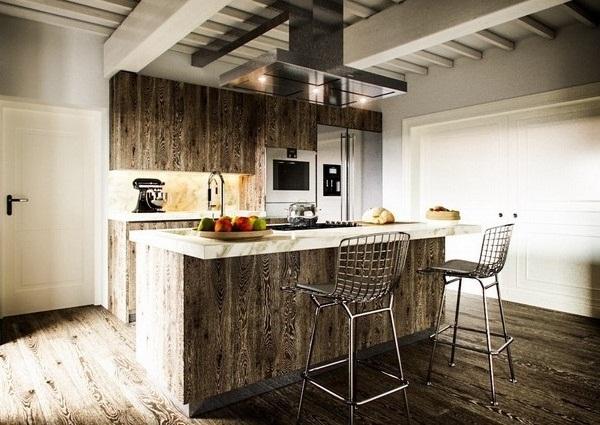 Desain dapur maskulin untuk pria
