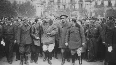 Generales, Barcelona, guerra civil, 26 de enero de 1939