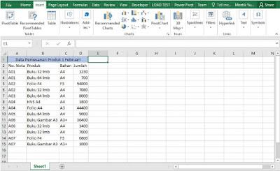 Menggunakan Pivotable untuk Menghitung Jumlah