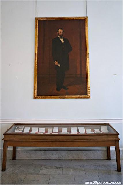 Retrato de Cuerpo Entero del Presidente Abraham Lincoln por A. Bicknell