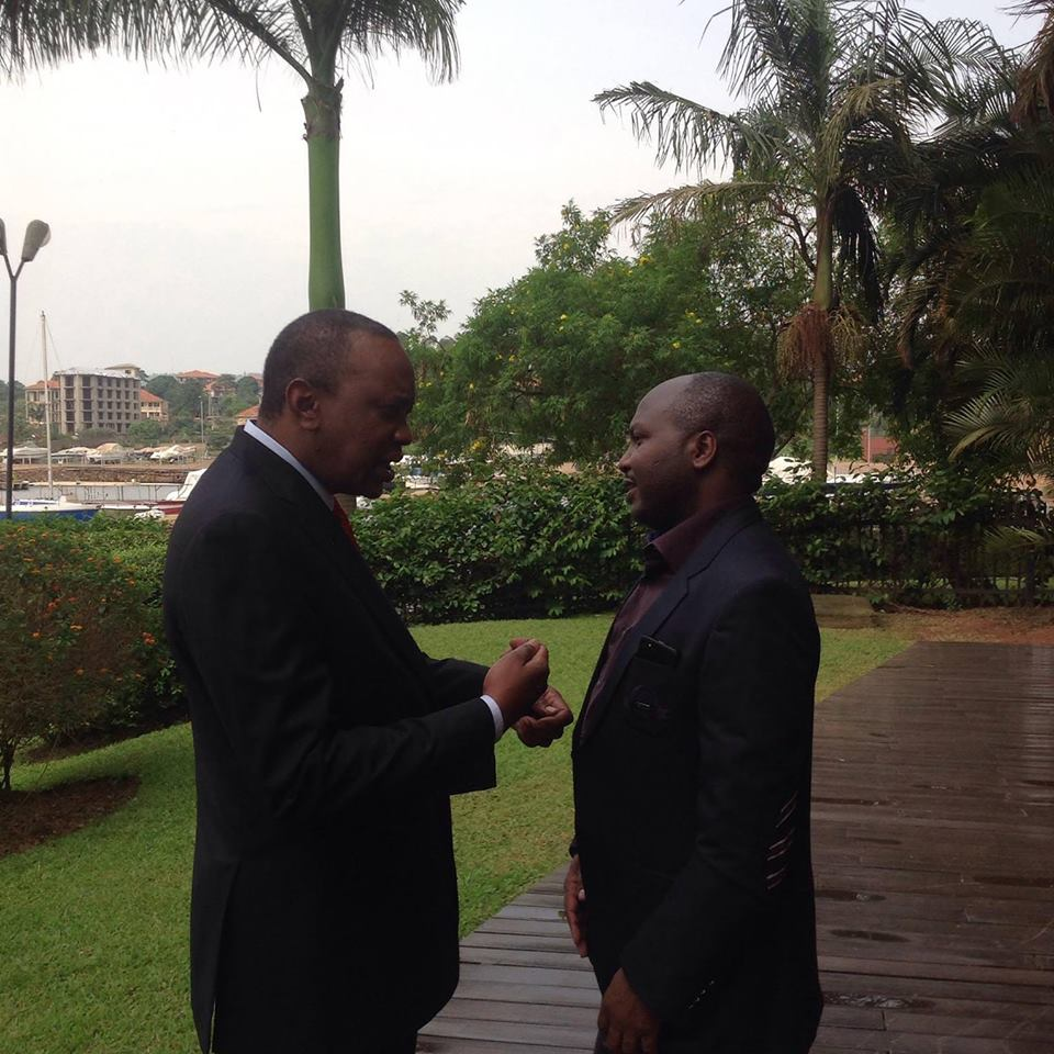 Donald Kipkorir With Uhuru Kenyatta