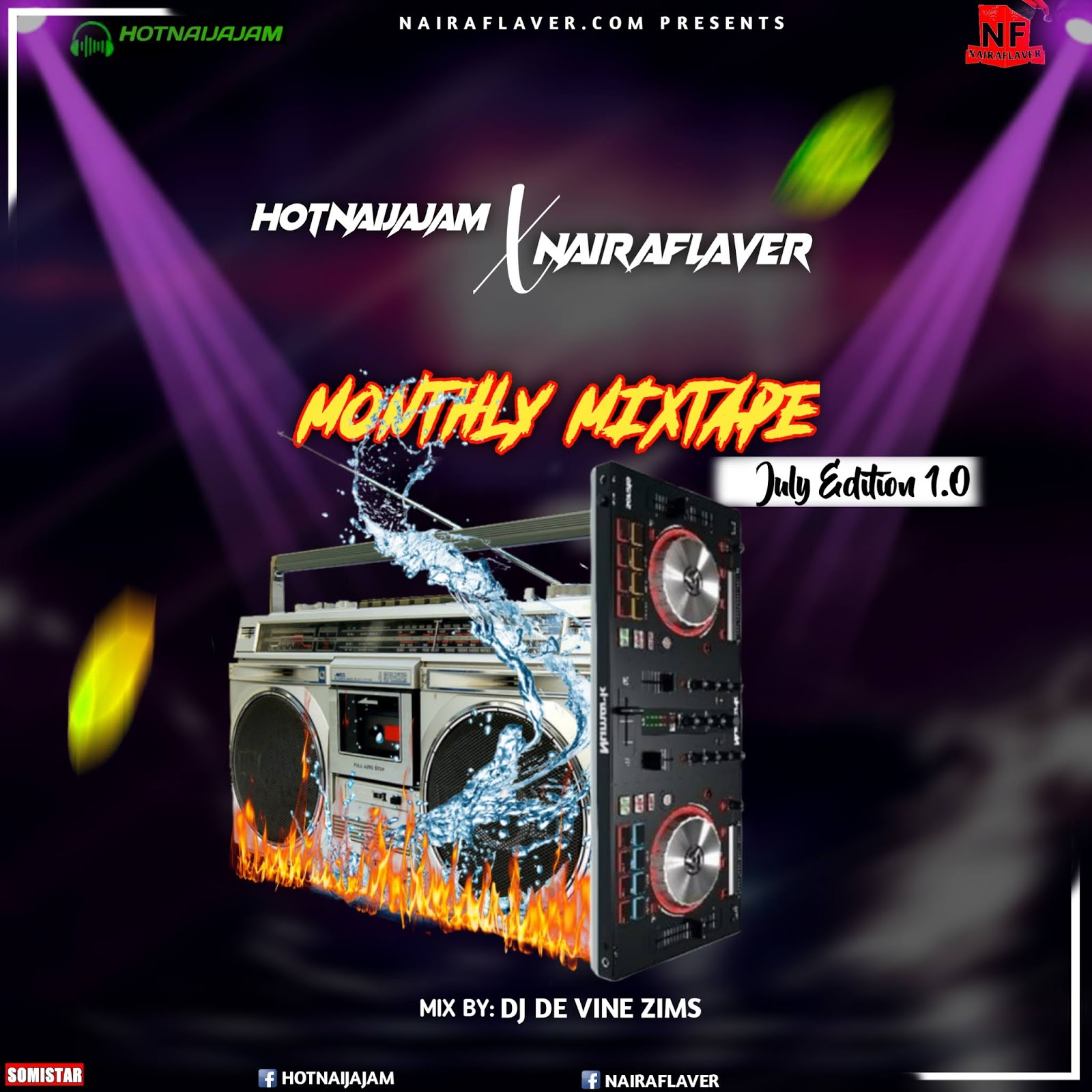 [Mixtape]: Nairaflaver – July Monthly Mixtape V1.0