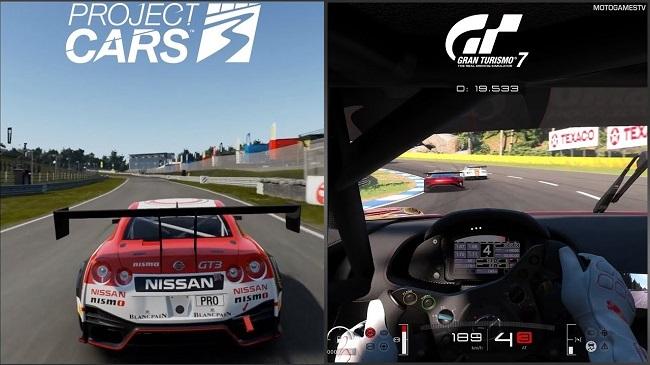 Comparison of Project Cars 3 vs Gran Turismo 7 (GT 7)