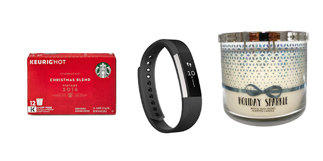 Starbucks Christmas Blend, FitBit Alta, Bath and Body Workds Holiday Sparkle Candle, College Blogger, Lifestyle Blogger