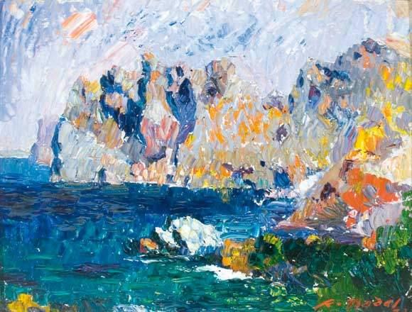 Ramón Nadal Horrach, Cala San Vicente, Mallorca en Pintura, Mallorca pintada, Paisajes de Mallorca