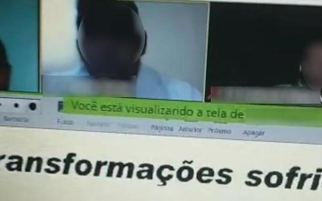 Aluna de colégio militar chora durante aula on-line após ouvir do professor: 'Saco cheio das suas perguntas'; vídeo