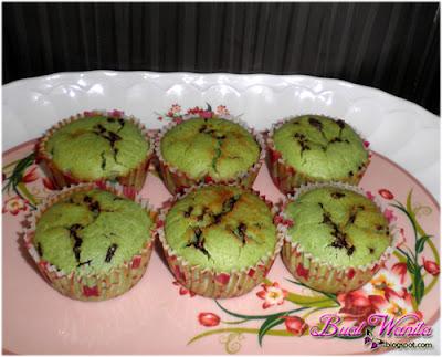 Resepi Cupcakes Muffin Pandan Coklat Rice Simple Sedap. Cara buat muffin cupcakes pandan coklat rice mudah