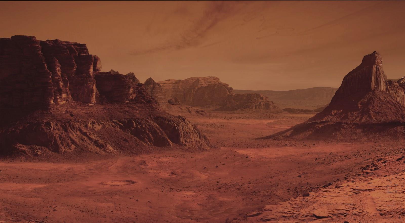 Martian landscape by Amante Lombardi