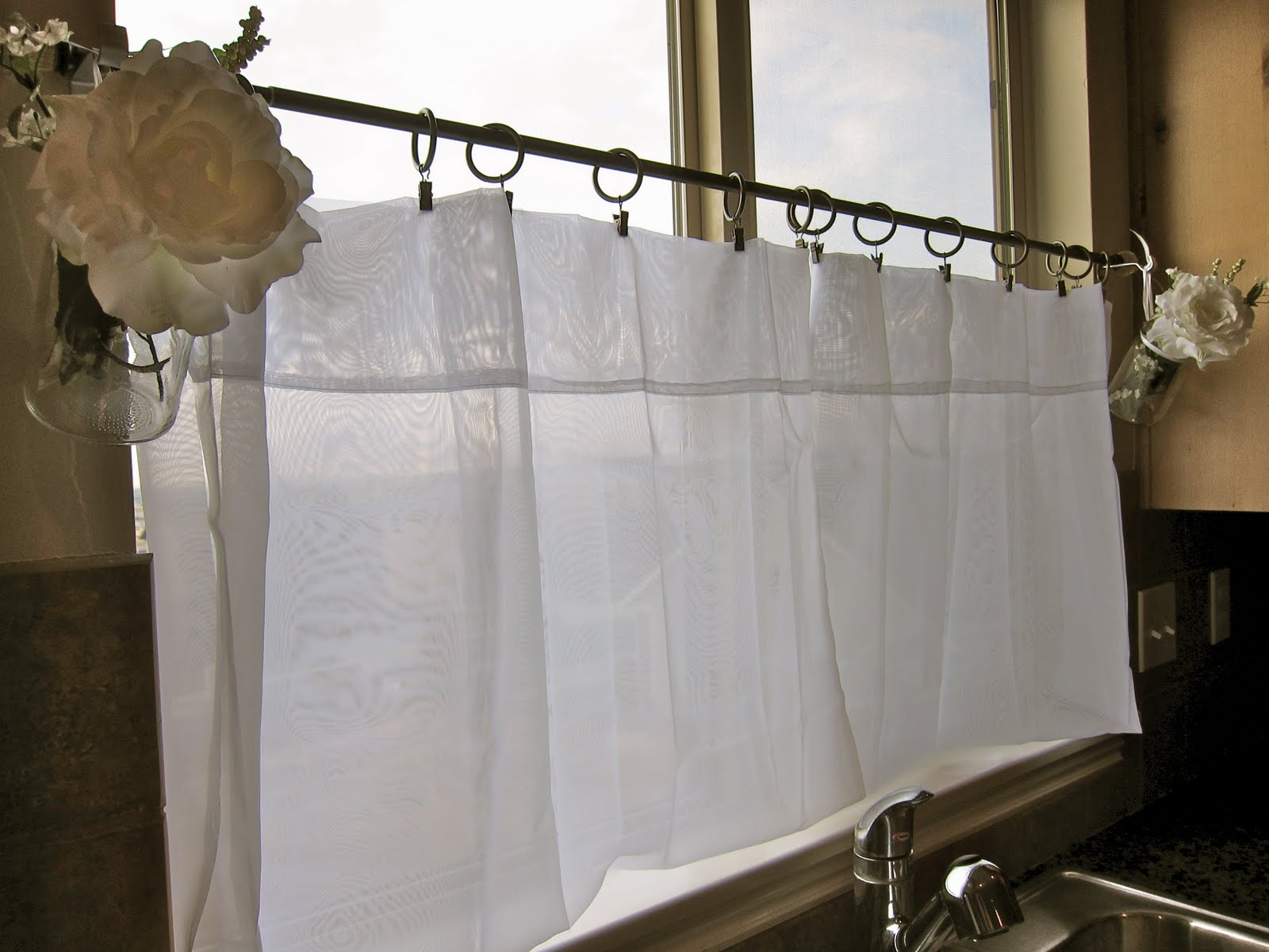 Cafe Curtains For Kitchen Decor Accessories Do It Yourself Divas Diy Curtain