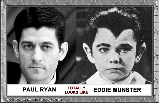 Political Memes Paul Ryan Totally Looks Like Eddie Munster
