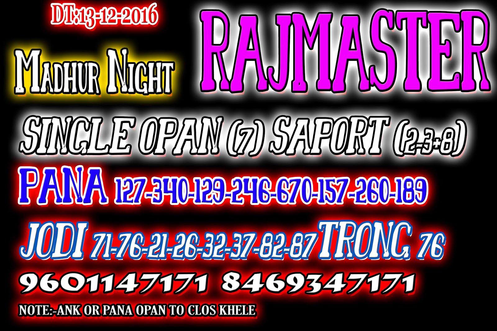 SattamatkaWatsapp com: Milan night rajdhani night madhur