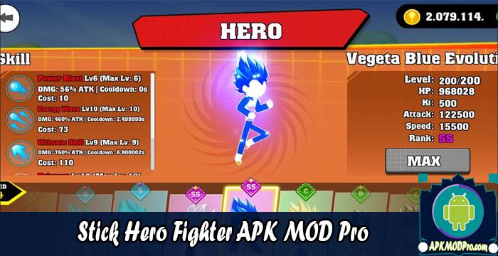 Download Stick Hero Fighter – Supreme Dragon Warriors MOD APK v1.1.4