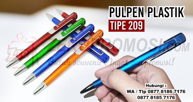 Jual Souvenir Pulpen 209 - pen promosi 209, Souvenir Pen 209, Pulpen PP115 / 209 untuk souvenir dengan custom logo, Jual Pen 209 Promosi - Kota Tangerang, Pulpen Promosi Type 209 : Produk Souvenir Pulpen, Souvenir Pulpen Plastik 209