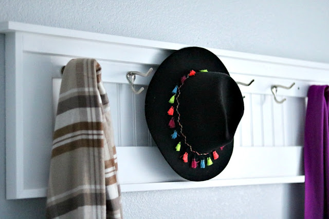 diy, organization, coat, rack, beadboard, laundry, room, mudroom, athomewithjemmablog