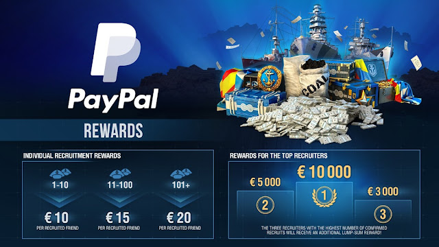 Gana hasta 20 euros por cada amigo que traigas a World of Warships.