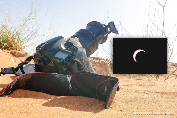 Capturing the June 2020 Eclipse from the desert of Saudi Arabia