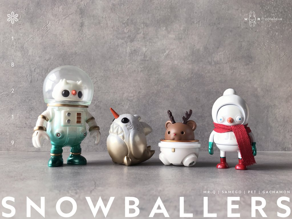 19954c6bb SUPER SNOWBALLER SET by Skullman x VYNC / Nebby Art / Fingerguns Launched  for Pre-orders