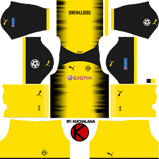 Borussia Dortmund Kits 2017/2018 - Dream League Soccer