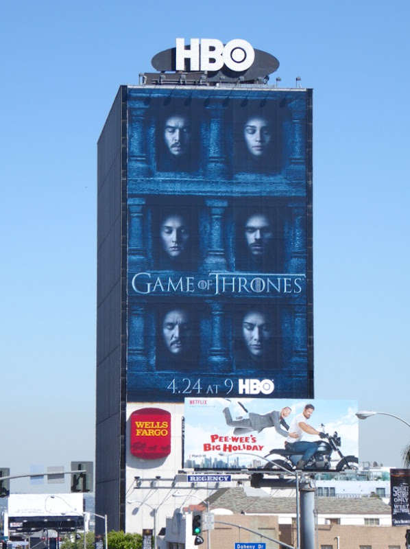Giant Game of Thrones season 6 billboard