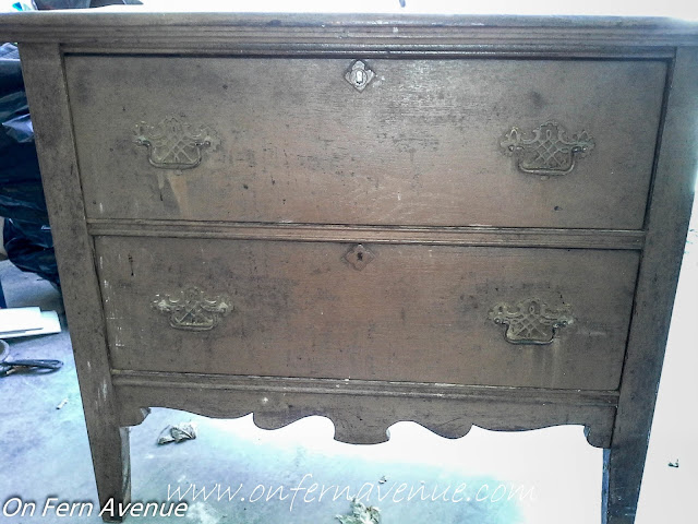 Dresser-found-at-estate-sale-to-be-used-as-a-bench