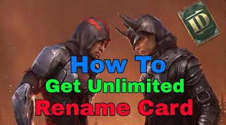 How to get unlimited rename card