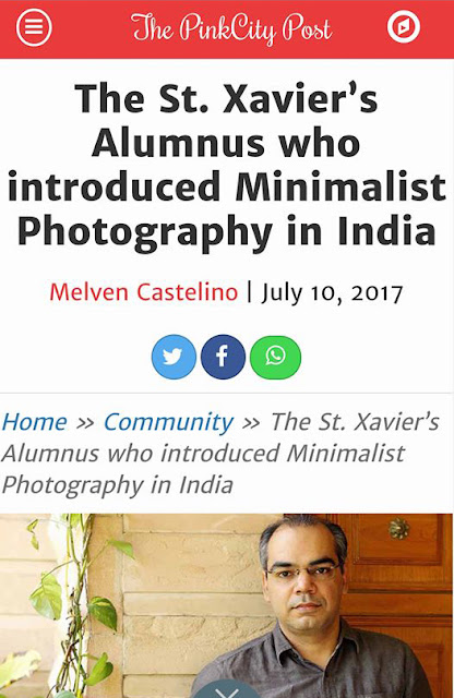 Featured in The Pink City Post Blog for Minimalist Photography