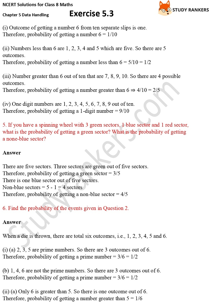 NCERT Solutions for Class 8 Maths Ch 5 Data Handling Exercise 5.3 3