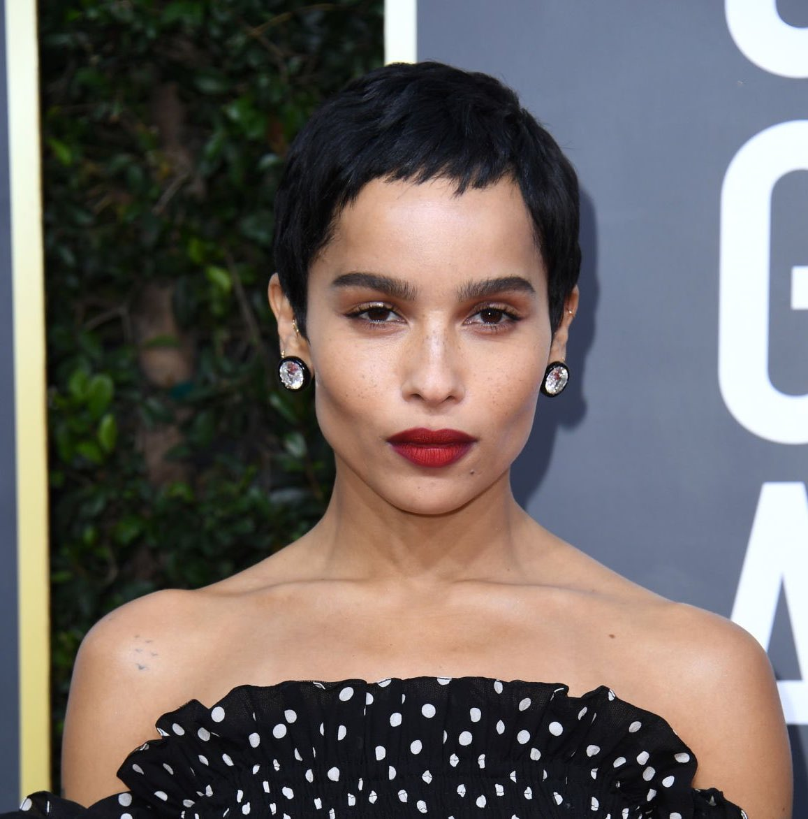 Zoe Kravitz rocks polka dot chic on the GoldenGlobes red carpet