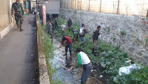 Satgas Sektor 22 Sub 07, Peltu Bayu : Pembersihan Sungai Perlu Kebersamaan Warga dan Aparatnya