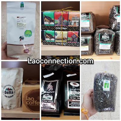 Made in Laos: Variety of coffee and tea