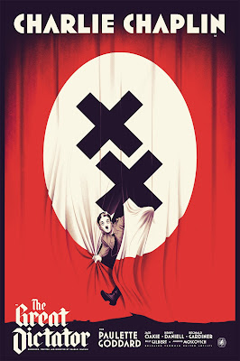 Charlie Chaplin Screen Print Series by Nautilus Art Prints - The Great Dictator by Justin Erickson (1)