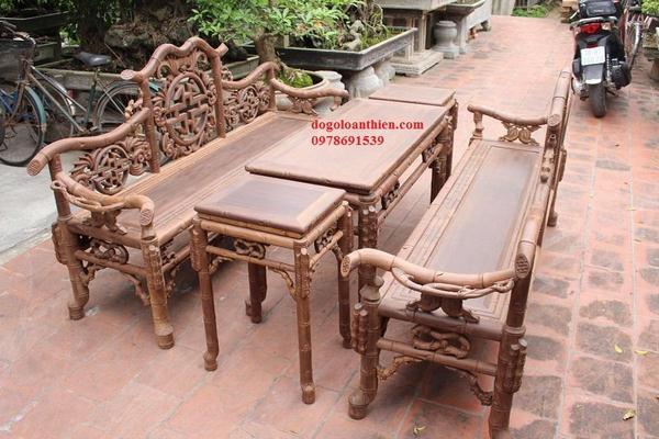 Một bộ bàn ghế gỗ trắc lào được thiết kế trong bao lâu?